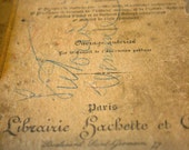 Vintage French text book - penmanship, handwriting