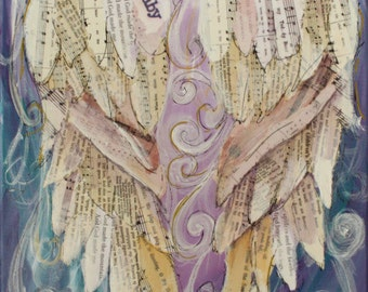 Angel Wings Painting   custom order your own Angel Wings painting  11x14 inches