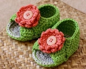 Instant download  - Crochet PATTERN (pdf file) - Cross Strap Baby Sandals