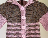 Instant download - Crochet PATTERN (pdf file) - Soft Merino Hooded Cardigan