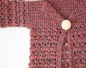 Instant download - Crochet PATTERN (pdf file) - Baby Bobble Cardigan