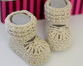 Instant download - Crochet PATTERN baby booties (pdf file) - Nina's Baby Boots