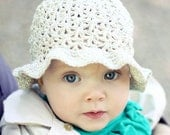 Instant download - Crochet PATTERN (pdf file) - Summer Sun Hat (baby to adult)