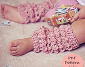 Instant download - Crochet PATTERN (pdf file) - Cashwool Leg Warmers (sizes baby to adult)