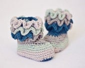 Instant download - Baby Booties Crochet PATTERN (pdf file) - Magic Boots