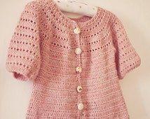Instant download - Crochet Cardigan PATTERN (pdf file) - Sophie's Cardigan (sizes from 6months up to 5 years)
