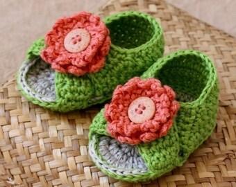 Crochet PATTERN  - Cross Strap Baby Sandals