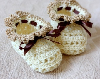 Crochet PATTERN - Milky Baby Booties