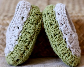 Instant download - Crochet PATTERN Baby Booties (pdf file) - Sorrento Slippers
