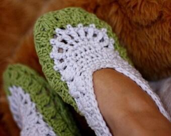 Crochet PATTERN - Sorrento Ladies Home Slippers