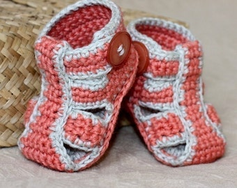 Crochet PATTERN  - Double Sole Baby Sandals