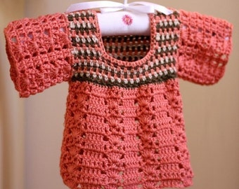 Crochet PATTERN  - Multi-colored Top (baby and toddler sizes)