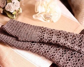 Crochet PATTERN -Melange fingerless gloves