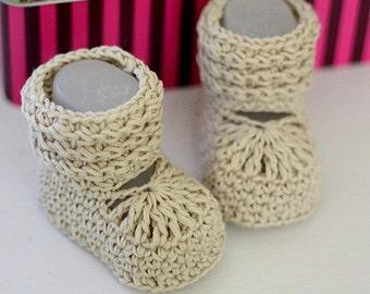 Crochet PATTERN  - Nina's Baby Boots