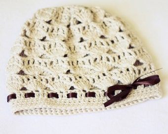 Crochet PATTERN - Shell Motif Hat (baby to adult)