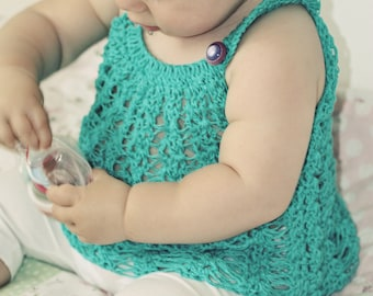 Crochet PATTERN  - Halter Top (baby and toddler sizes)