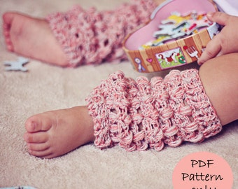 Crochet PATTERN - Cashwool Leg Warmers (sizes baby to adult)