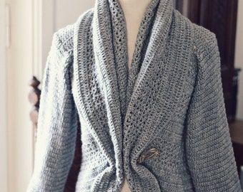 Crochet PATTERN  - Ladies' Shrug - Cardigan