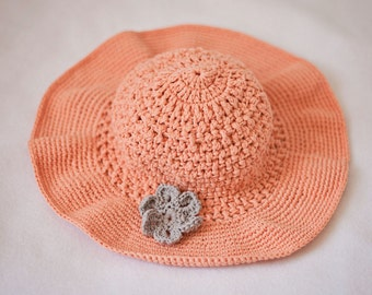 Instant download - Hat Crochet PATTERN (pdf file) - Floppy Sun Hat (baby to adult)