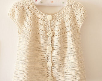 Crochet PATTERN  - Sophie's Cardigan (sizes from 6months up to 5 years)