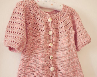 Crochet Cardigan PATTERN  - Sophie's Cardigan (sizes from 6months up to 5 years)