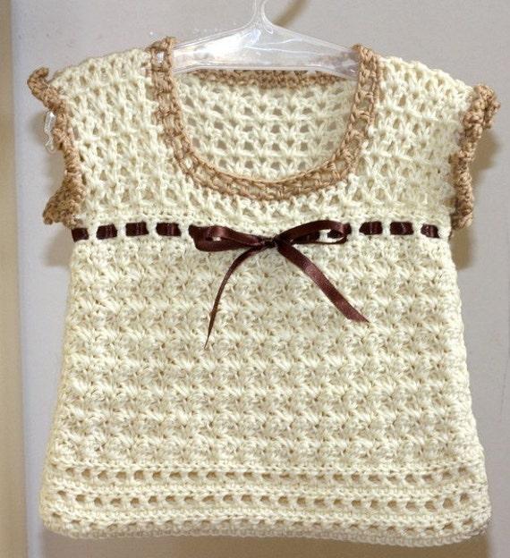 Crochet Baby Waistcoat Pattern : Crochet PATTERN pdf file Milky Baby Vest by monpetitviolon