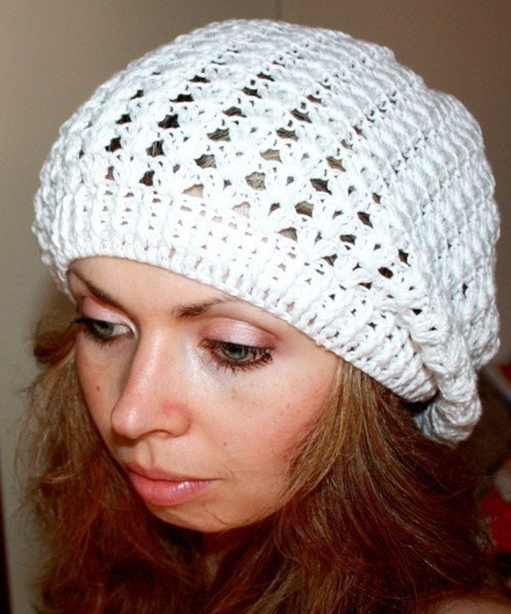 Crochet PATTERN pdf file Summer French Beret by monpetitviolon