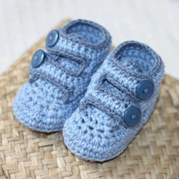 Instant download - baby Booties Crochet PATTERN (pdf file) - Baby Strap Shoes