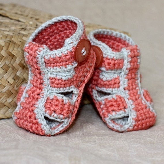 Instant download - Crochet PATTERN (pdf file) - Double Sole Baby Sandals