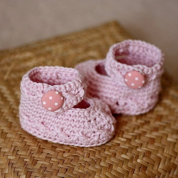 Crochet Pattern Polka Dot Baby Mary Janes
