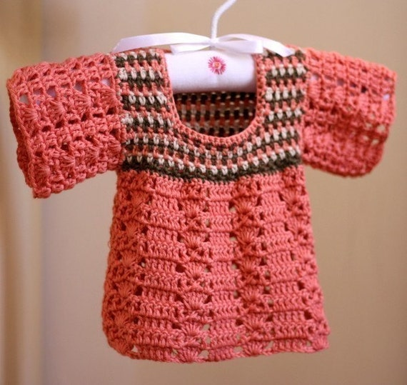 Instant download - Crochet PATTERN (pdf file) - Multi-coloured Top (for baby and toddler)