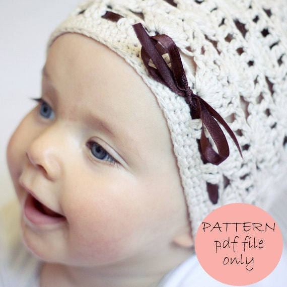 Instant download - Crochet PATTERN (pdf file) - Shell Motif Hat (baby to adult)