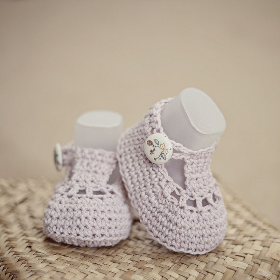Instant download - Baby Booties Crochet PATTERN (pdf file) - Charlotte Booties