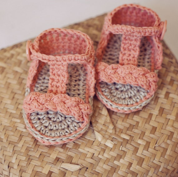 Instant download - Baby Booties Crochet PATTERN (pdf file) - Braided Gladiator Sandals