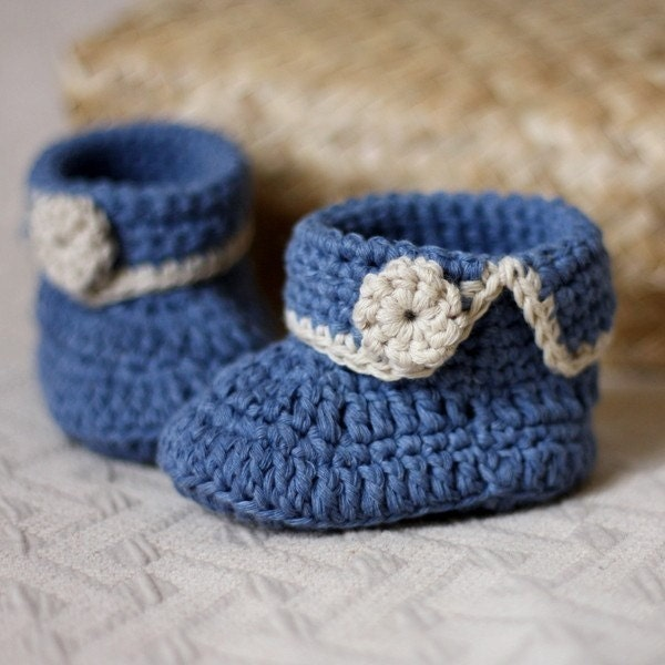 Crochet Pattern Easy Baby Booties : Instant download Baby Booties Crochet PATTERN pdf file