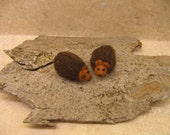 Baby Hedgehogs Sewn Wool Felt - ship for FREE in the US