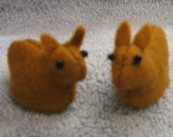 Baby Bunnies Sewn Wool Felt- ship for FREE in the US