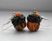 Pumpkin Patch Cupcake Earrings