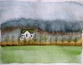 farm house - a painting