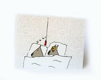 postcards insomnia dog set of 3