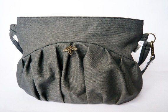 Fat ruffle bag grey