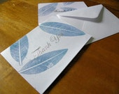 Tangled Up in Blue- Hand-Printed Thank You Cards- set of 6