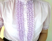 Pink Fitted Ruffle Blouse