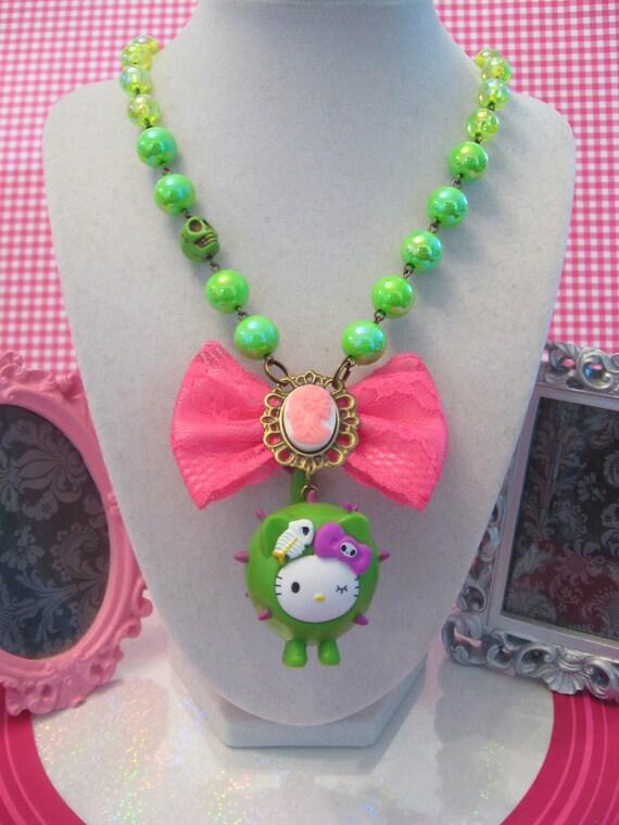 Hello Kitty Cactus Kawaii Necklace