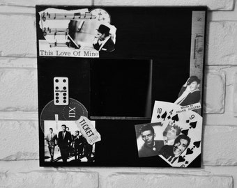 The Rat Pack  Decoupaged Mirror