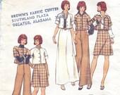 1970s Vintage Butterick 3205 CROPPED JACKET, A-line Maxi Skirt  Size 10