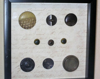 Vintage Button Shadowbox