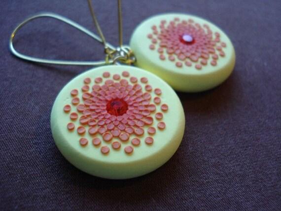 orange burst earrings