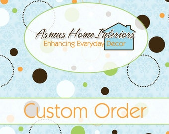 """CUSTOM ORDER for Susan Ristine - One Custom Made Lined Grommet Top Valance 50""""W x 16""""L"""