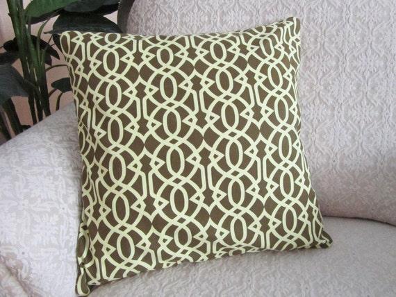 Decorative Throw Pillow Cover Moss Green 16 x 16 Garden